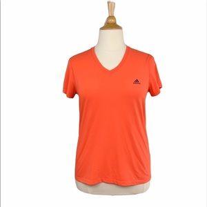 Adidas Orange Ultimate 2.0 ClimaLite V-Neck Tee
